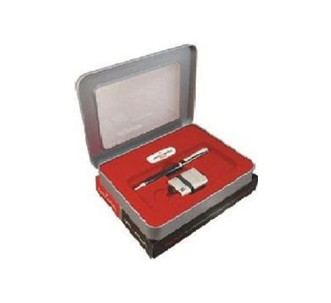 Pierre Cardin Silvern Ball Pen and Lighter Gift Set