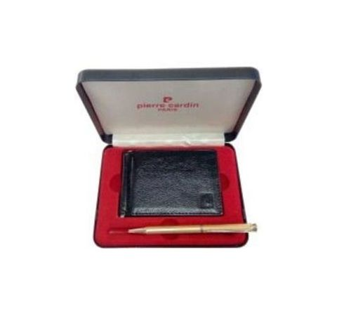 Pierre Cardin Cristal Rich Ball Pen and Money Clip Wallet Gift Set