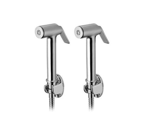 Snowbell Solo Health faucet With Tube and Hook Set of 2 Piece