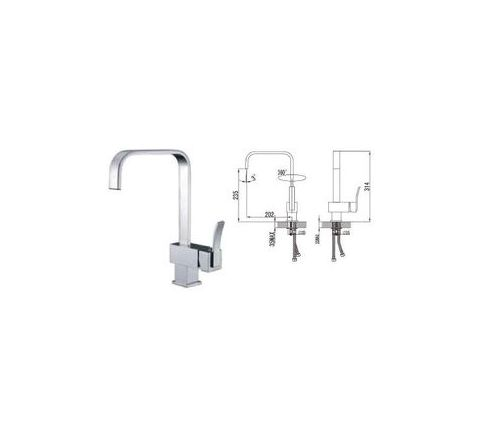 Jayna Brass Material Single Lever Kitchen Faucets - JKF 07
