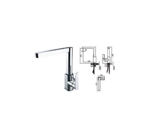 Jayna Brass Material Single Lever Kitchen Faucets - JKF 06