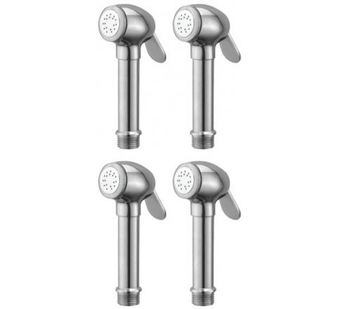 Snowbell Dolphin Brass Chrome Plated Health Faucet Head Set of 4 Piece