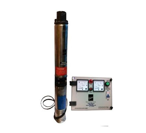 Kirloskar 1.5 HP Oil Filled Single Phase 4 Inch Borewell Submersible Pump KP4 - 0713S - CP with Control Panel, upto 255 feet