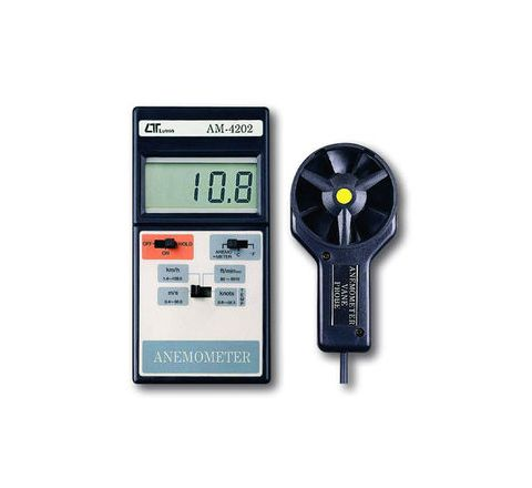 Lutron AM-4202 Digital Anemometer With Temperature Measurement Sensor