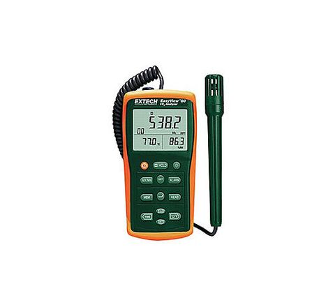 EXTECH 10 to 95% 20,000 Continuous Readings; 99 Manual Readings Back Lighted LCD