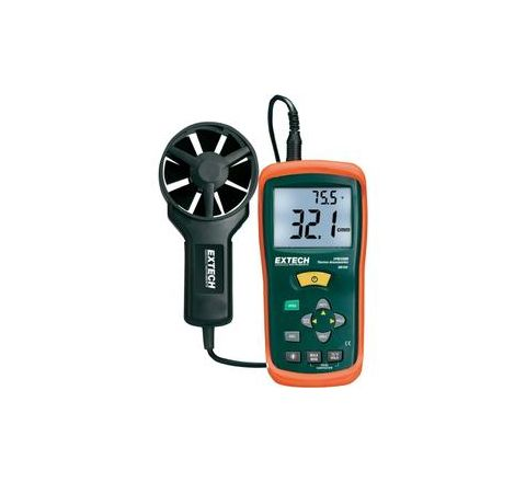 Extech AN100 NIST CFM/CMM Thermo-Anemometer Air Flow Meter