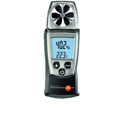 Testo 410-2 Air Velocity Vane Anemometer Meter Range- 0.4 - 20 m/s