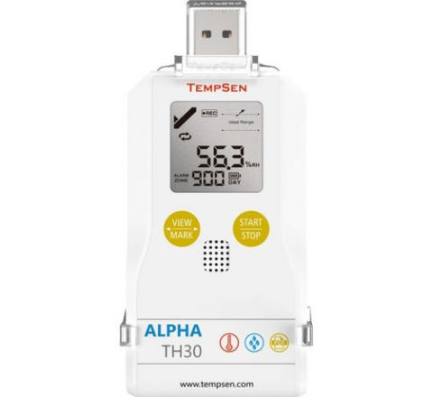 Tempsen Multi-use Temperature Humidity USB PDF Data Logger Alpha TH30