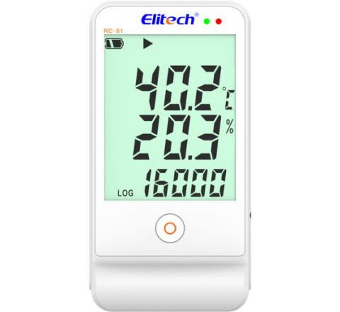 Elitech RC-61 Multi Use Temperature & Humidity Data Logger -40+85