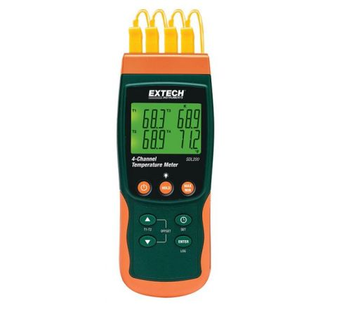 Extech SDL-200 4-Channel Datalogging Thermometer