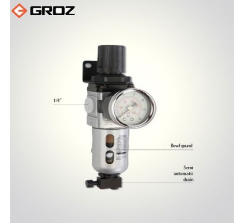 Groz 1/4 NPT Filter Regulator Combination With Pressure Gauge FRC139134 S/GB_le_ala_003