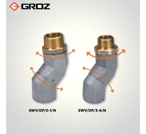 Groz 3/4 NPT  F  X 3/4 NPT  M  Dual Plane Fuel Nozzle Swivel SWV/DP/3 4/N_le_fe_010