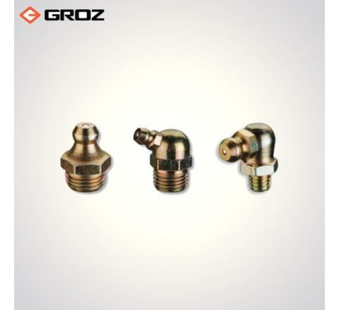 Groz 10.0 X 1.5mm Taper Thread Grease Fittings  GFT/10/1.5/45_le_ge_015